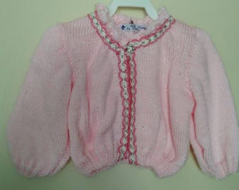 GIRL'S PINK SWEATER