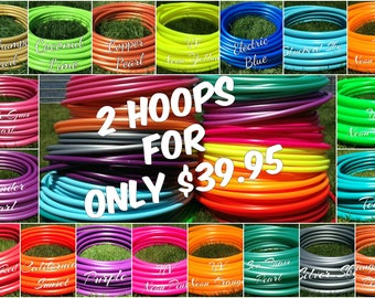 "Special 2 for 40 Colored 5/8"" PolyPro Hula Hoops - You Choose Color and Size for the Hoop"