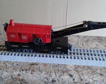 Lionel Trains 6560 Red Bucyrus Erie Crane Car