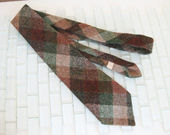 Irish Green Tweed Tie Beige White Wool Tweed Ireland