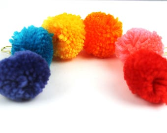 Planner Clips - Large Pom Pom Clip Planner Jewelry, Accessories