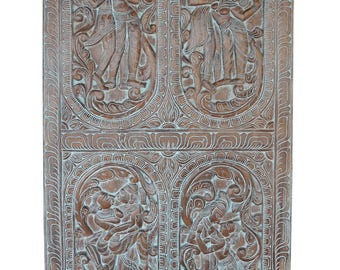 Antique Handcarved Distressed Vintage Kamasutra Erotic Barn Door Panel Dream House Decor