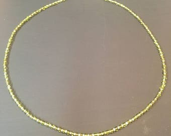 Sead Bead Green and Clear Necklace