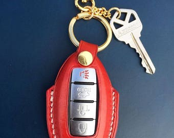 Leather fob case- Nissan