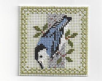 Birds of the Air -Nuthatch- Counted Cross Stitch Chart - PDF Instant Download