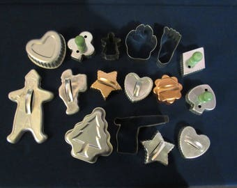Lot of Vintage Cookie Cutters