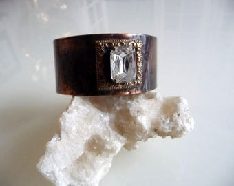 Crystal Copper Cuff