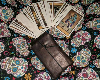 Light weight leather tarot pouches