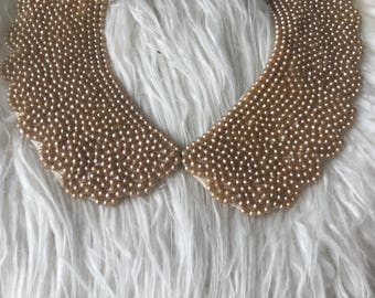 Vintage 40's/50's champagne pearl collar