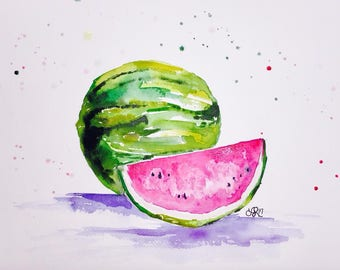 water and melons