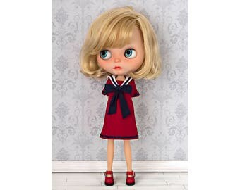 Sailor dress No. 2 for Blythe doll