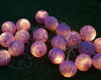 LED cotton balls, Handmade Cotton Ball Lights for home decoration,wedding patio,indoor string lights,bedroom fairy lights