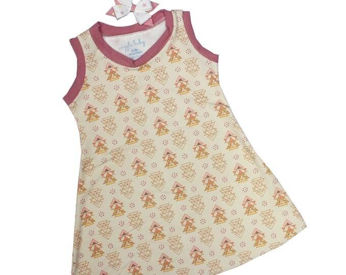 Featured listing image: Rose Geo Tank Dress, Girls Knit Dress, Summer Dress, Play Dress