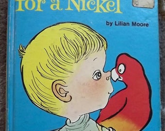 A Pickle for a Nickel by Lilian Moore A Golden Beginning Reader 1969