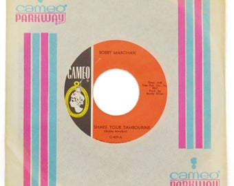 Vintage 60s Bobby Marchan Shake Your Tambourine Northern Soul 45 RPM Single Record Vinyl