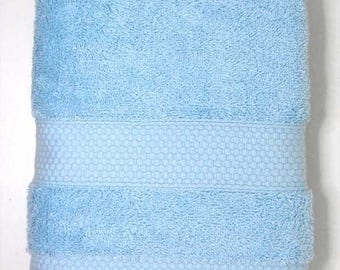 50x90cm towel cotton Terry color sky blue