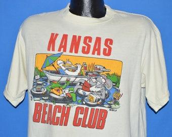 80s Kansas Beach Club Tubing Pond t-shirt Large