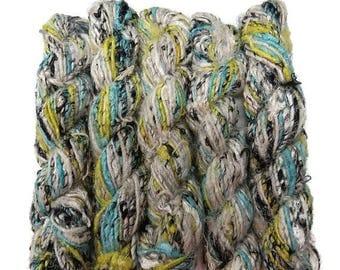 SALE Banana Silk Vegan Yarn,  pale blue mix