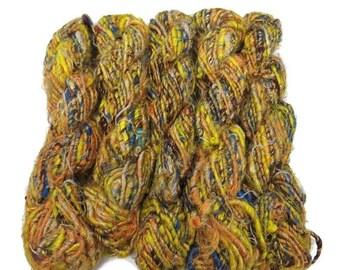SALE Banana Silk Vegan Yarn,  Yellow Medley