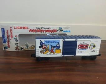 1977 Lionel FANTASIA Disney Mickey Mouse Express High Cube Box Car W Box