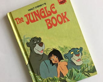 1974- Walt Disney's The Jungle Book- Book Club Edition Story Book