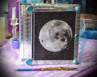 Made to Order Full Moon Book of Shadows / Witch's Spellbook / Moon Phase Journal / Lunar Diary / Witchcraft Grimoire / Pagan 3 Ring Binder