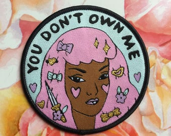 You don't own me - iron on patch - Lovestruck prints