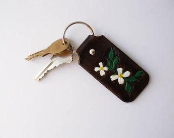 Key Fob Key Chain Leather Key Chain Key Fob Handmade Leather Key Chain