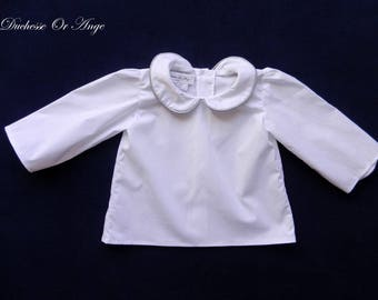 Peter Pan collar with white baby - 12 month shirt