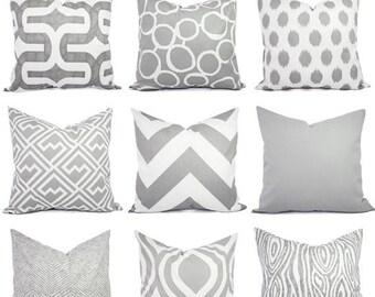 15% OFF SALE Grey Pillow Covers - Decorative Throw Pillows - Throw Pillow - Grey Pillows - Decorative Pillows - Pillow Sham - 16 x 16 18x18