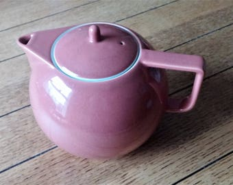 Sasaki Colorstone TERRACOTTA mid century modern 6 Cup Teapot made in Japan