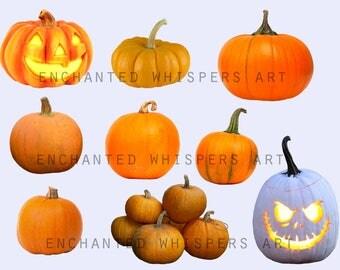 digital pumpkin Photoshop overlays