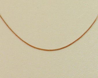 14k Rose gold  box chain, gold necklace, yellow gold necklace,box necklace