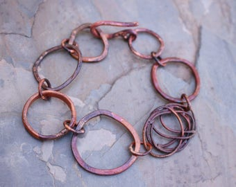 Mixed Texture Copper Bracelet