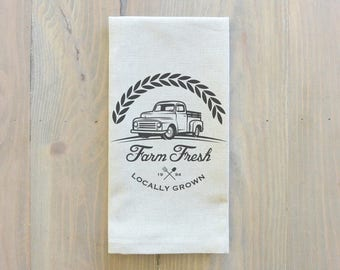 Farm Fresh Napkin_table setting, tableware, place setting, housewarming gift, party, dinner, event, thanksgiving, fall
