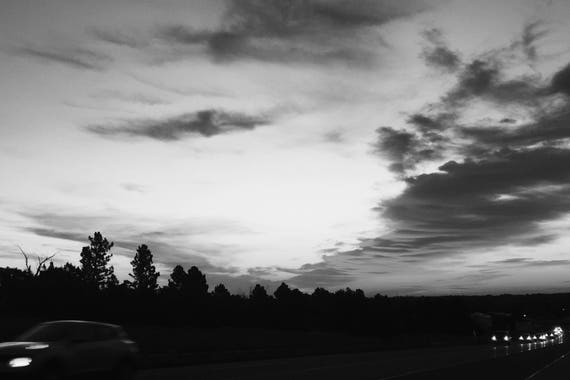 Fine Art Photography | Morning Drive Black and White  Print | Wall Art