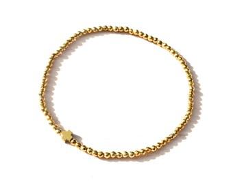 Hematite bracelet, Layering bracelet, Hematite jewelry, Ultra thin bracelet, Dainty bracelet, Facet beads bracelet, Minimalist bracelet
