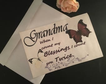 Grandma Greeting Card | Birthday Card | Just because Card | Grandmother's Day
