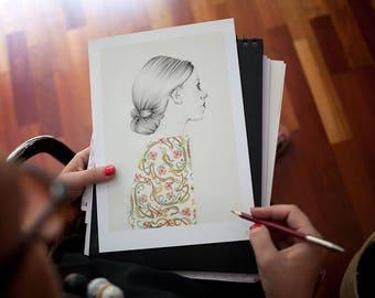 Illustration, Poster, Digital art print on paper, pictures,  Love.