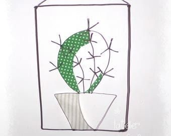 Cactus wire and fabric
