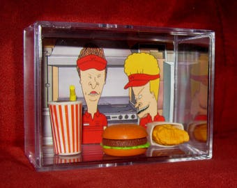 Beavis and Butthead~  BurgerWorld's Lunch Special...ships out fast