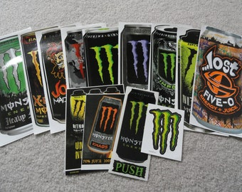Lot of 13 BIG Energy Drink Stickers
