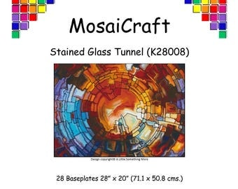 MosaiCraft Pixel Craft Mosaic Art Kit 'Stained Glass Tunnel' (Like Mini Mosaic and Paint by Numbers)