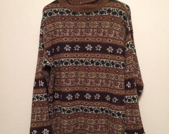 Vintage hipster oversized ugly sweater L