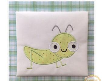 ON SALE Grasshopper Machine Embroidery Applique Design