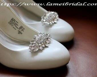 2pcs Elegant Crystal Rhinestone Wedding Bridal Shoe Clips