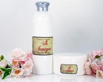 Silk shampoo&conditioner set, tired hair set, dry hair set