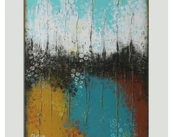 Abstract Painting, Canvas Wall art, Boiling Bubbles - j44 Original art, Landscape, Abstract Painting,acrylic artwork, large original art