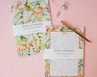 Sorbet flamingo A5 notebook & notepad stationery set