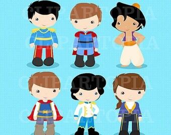 50% OFF SALE Princes Digital Clipart / Fairytale Princes, Cute Princes Digital Clipart For Personal and Commercial use/ INSTANT Download